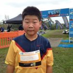One of his first 10k races, aged 13
