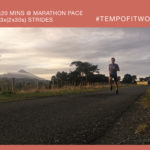 Workout of the Week: 026 - 2x20mins Marathon Pace + Strides